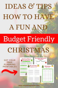 christmas budget ideas and tips for saving money during the holiday printables