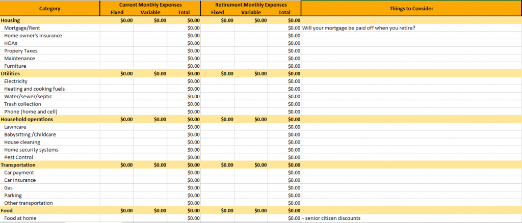 retirement-expense-planning-worksheet