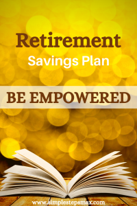 tips and ideas for a retirement savings plan plus worksheet