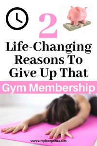 simple life hack for frugal living tips to save money on gym membership budget