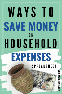 best ways to save money on household expenses with spreadsheet for budgeting finances