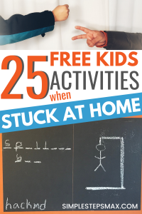 easy indoor activities for kids and children at home whose families are living frugal with saving money