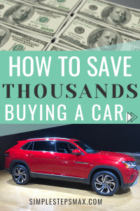 personal finance management tips with car buying for saving money on a budget